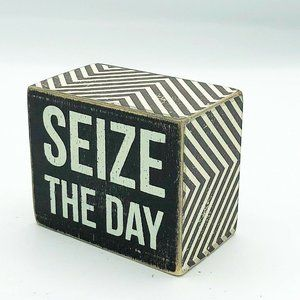 Seize the Day Mini Wooden Block Sign